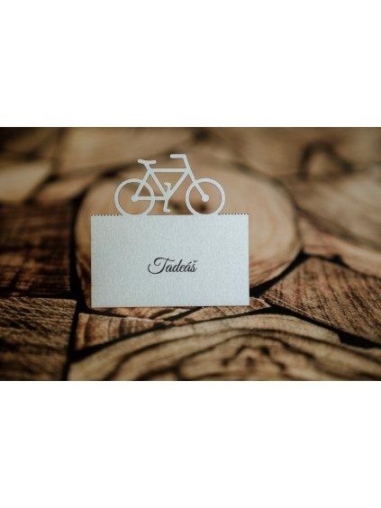 Svadobná menovka bicykel