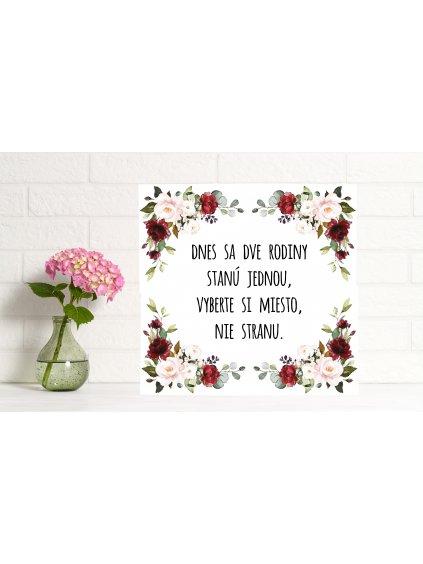 Uvítacia svadobná tabuľa 10