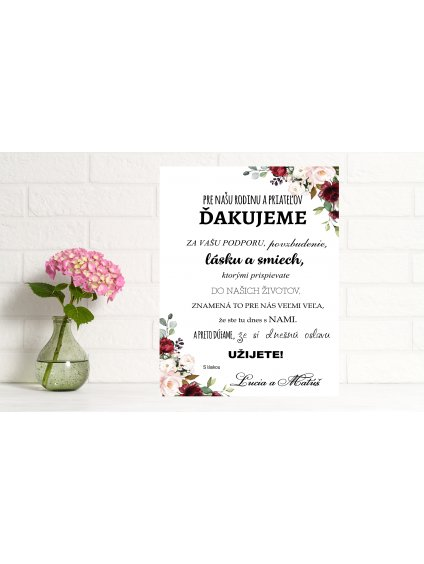 Uvítacia svadobná tabuľa 11