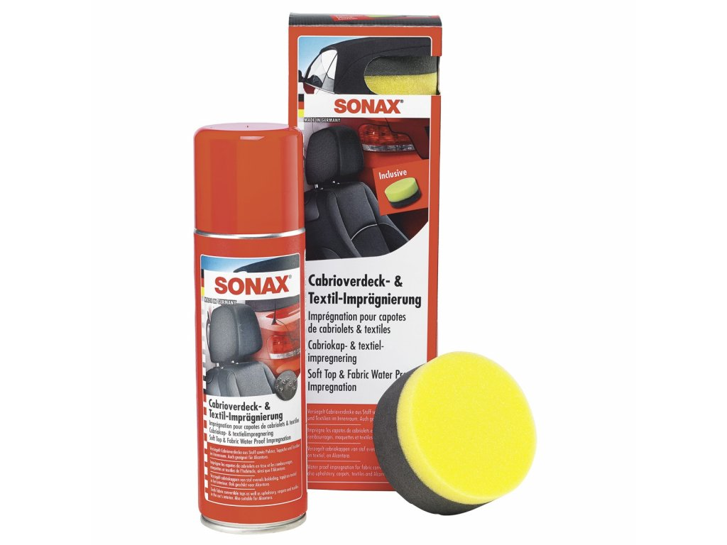 310200 sonax impregnace na textilni strechy kabrioletu 300 ml