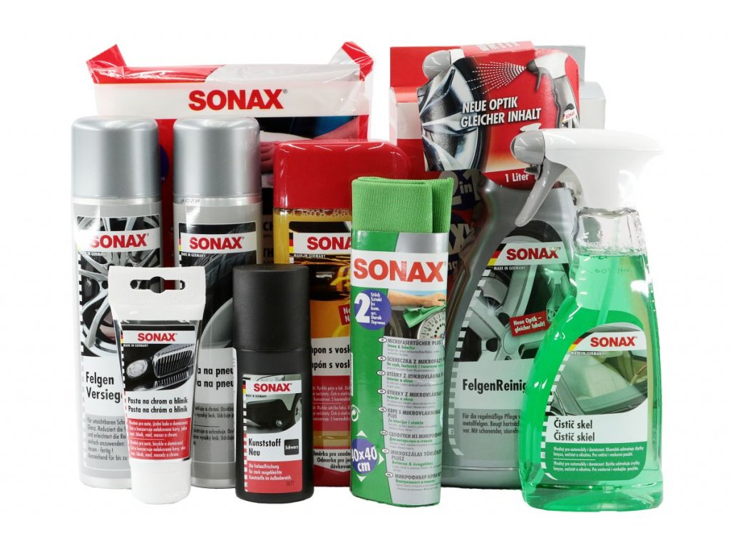 Dárkový balíček SONAX: Péče o Exteriér varianta Komplet ORIGINAL