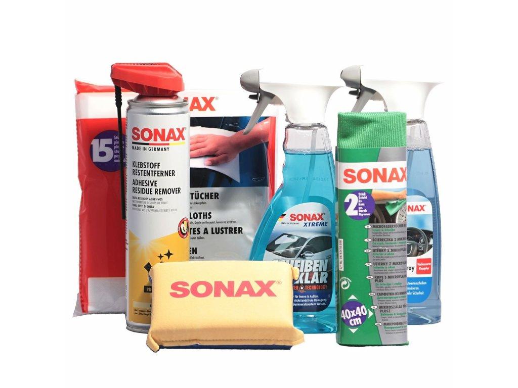 Balíček autokosmetiky SONAX péče o skla