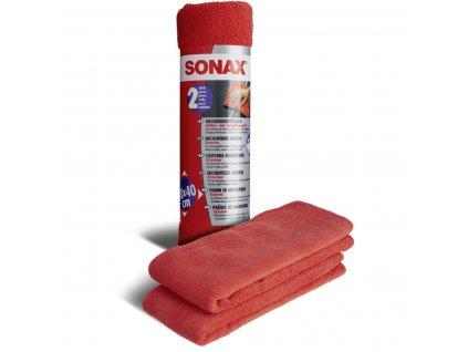 416241 sonax uterky cervene z mikrovlakna na karoserie 2ks 40 x 40 cm