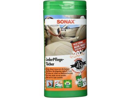 SONAX Čistící utěrky na kůži - 25 ks