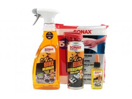 Dárková sada cyklokosmetiky SONAX BIKE umyj a maž