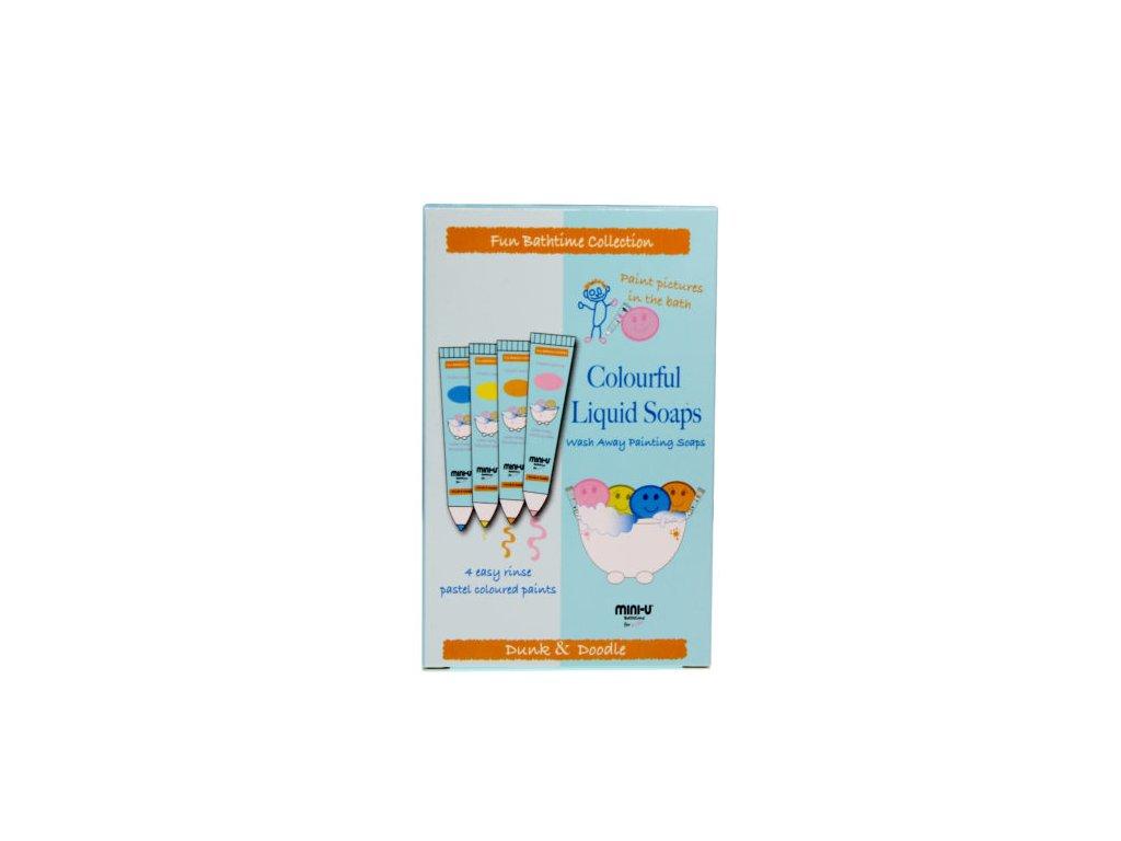 Kreativní mýdla v tubě pro děti Mini-U Dunk and Doodle  4x20ml