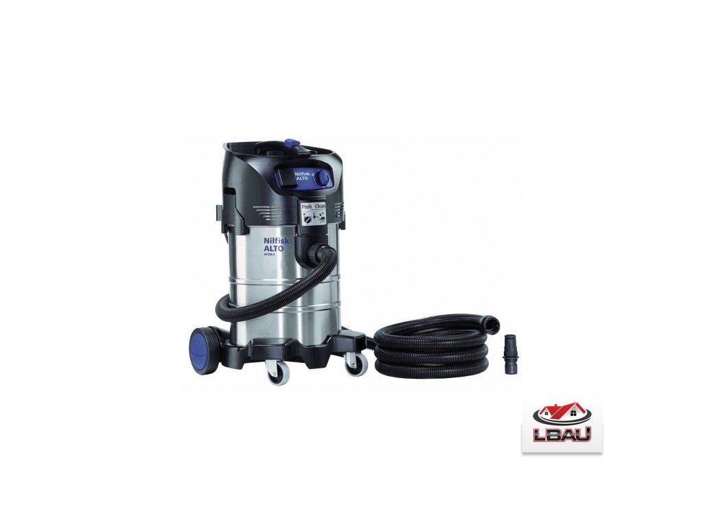 Nilfisk ATTIX 40-21 PC INOX 302003415 - Jednomotorový mokro-suchý vysávač s el. zásuvkou na náradie
