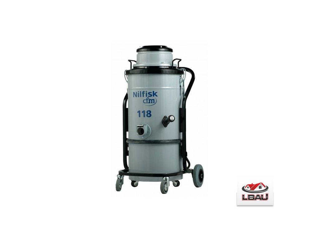 Nilfisk 118 XX 4010100036 - Jednofázový jednomotorový priemyselný nerezový vysávač