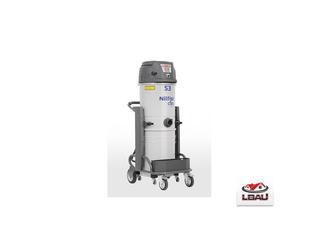 Nilfisk S3 L100 LC GV CC 4010300183 -  Priemyselný jednofázový trojmotorový vysávač