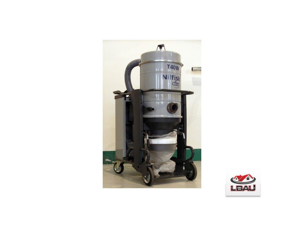 Nilfisk T40W L100 GU FM AU H 5PP 4030500182 - Trojfázový priemyselný bezpečnostný vysávač triedy M