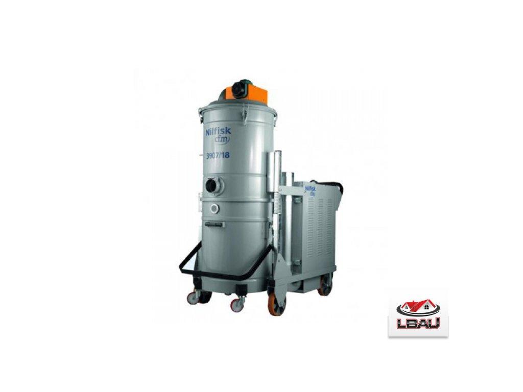 Nilfisk 3907 SE 5PP 4030700241 - Priemyselný trojfázový vysávač s elektrickým oklepom filtra