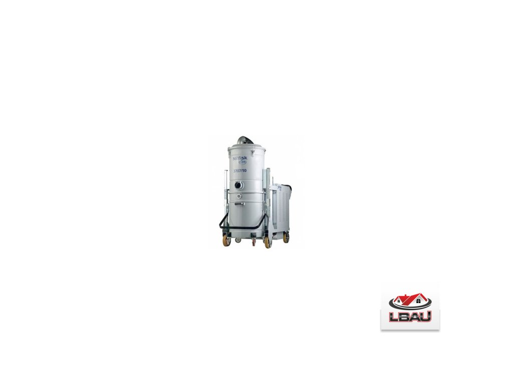 Nilfisk 3707/10 HC SE SBS 4030700267 - Priemyselný trojfázový bezpečnostný vysávač triedy H s bezpečnostnou nádobou a elektrickým oklepom filtra