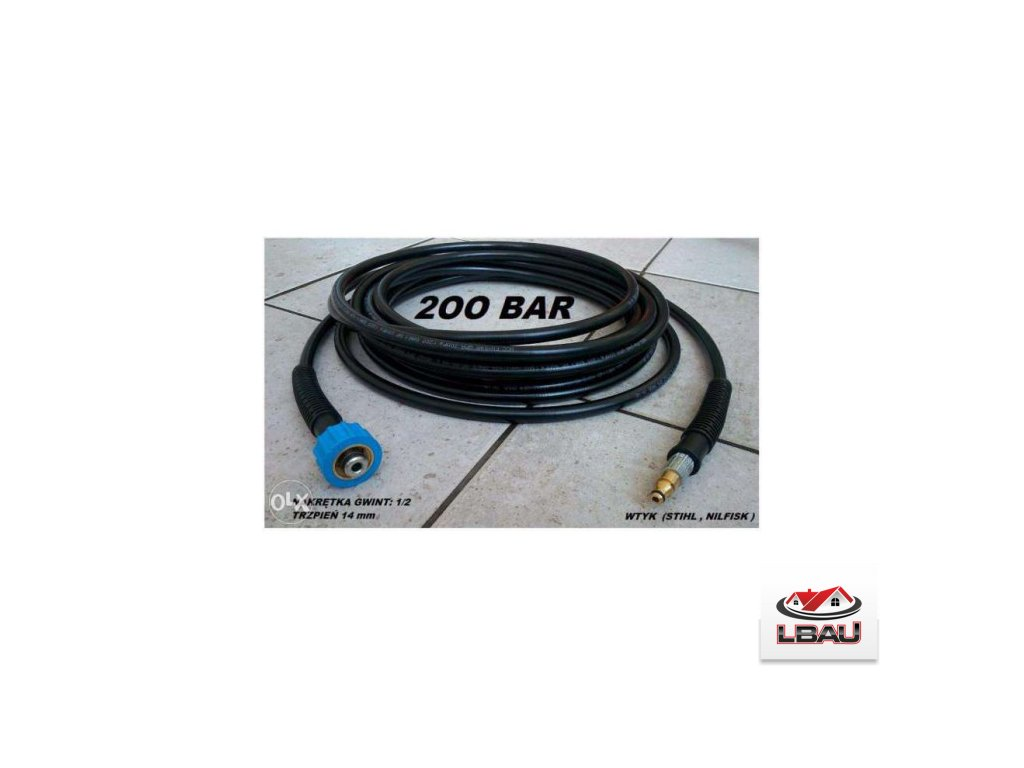 Nilfisk - Vysokotlaková plastová hadica DN6x1 200bar 15metrov 0609903096