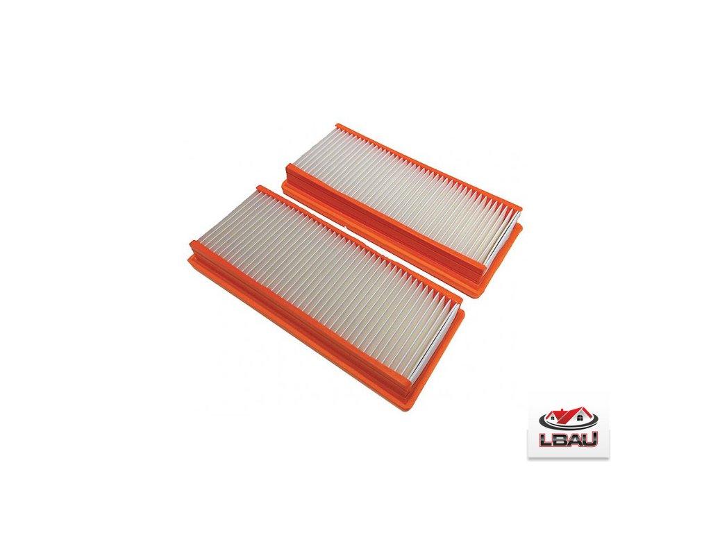 Nilfisk Plochý filter H-Class 107400449 pre vysávače ATTIX 50 , sada 2ks