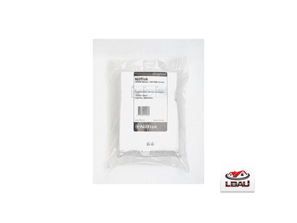 Nilfisk fleece filtračné vrecká pre vysávače Saltix 10, Saltix 3, VP300, VP100 10ks 82367820