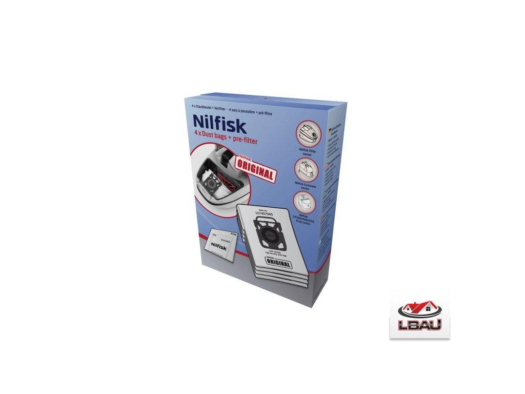 Nilfisk ULTRA vrecká 4ks+ predfilter  pre vysávače Nilfisk ELITE, EXTREME a KING series  107407940