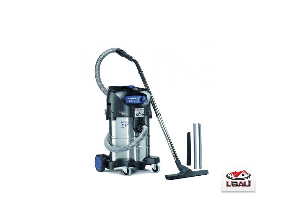 Nilfisk ATTIX 40-01 PC INOX 107413593 - Jednomotorový mokro-suchý vysávač s ručným oklepom filtra