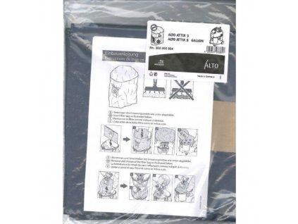 Nilfisk jednorazové plastové vrecia 5ks na odpad 302000804 pre vysávače ATTIX 3/30/40 a vysávače AERO