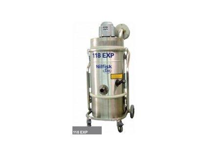 Nilfisk 118 EXP AD 4010100039 - Jednofázový jednomotorový priemyselný vysávač do výbuchu