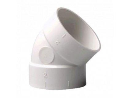Nilfisk Koleno 45º, plastové F/F 42000249