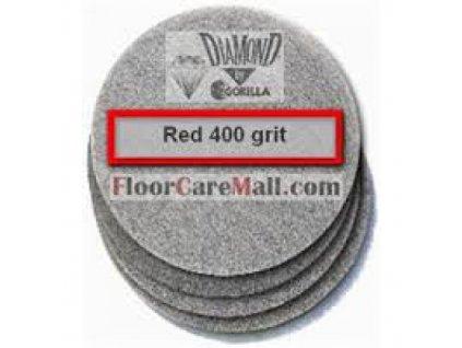 """PAD ETC DIAMOND 400 Červený 12""""/30,5cm PAD na kamenné podlahy"""