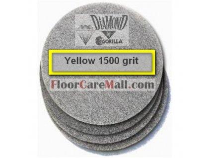 """PAD ETC GORILLA DIAMOND 1500 Žltý 12""""/30,5cm PAD na kamenné podlahy"""