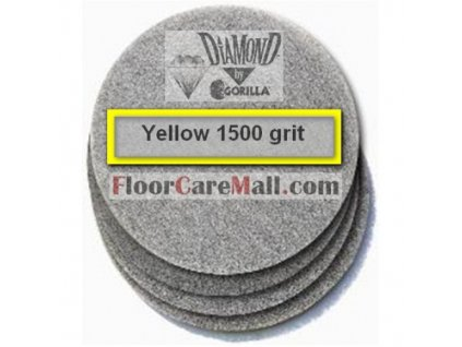 """PAD ETC GORILLA DIAMOND 1500 Žltý 21""""/53,3cm PAD na kamenné podlahy"""