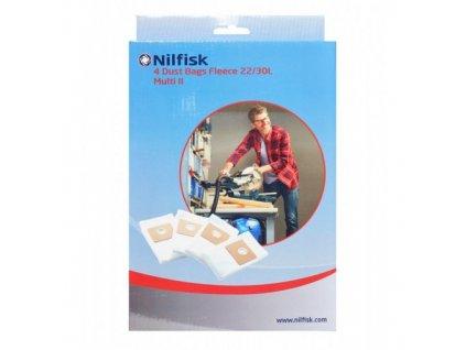 Nilfisk Sada odpadových vreciek pre vysávače Multi II 22/30L 4ks 107417195