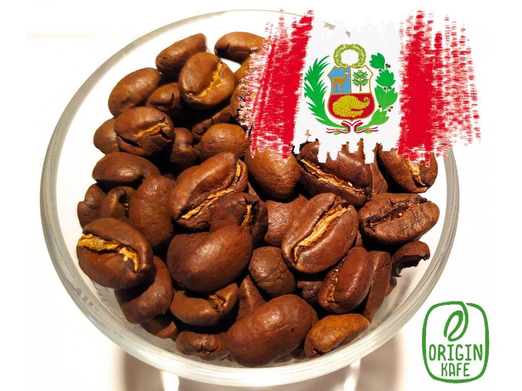 Zrnková káva Peru SHB Organic