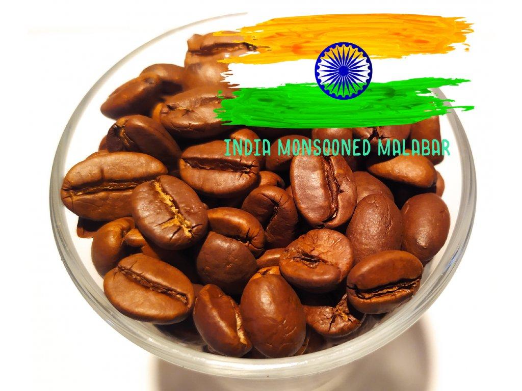 Zrnková káva India Monsooned Malabar