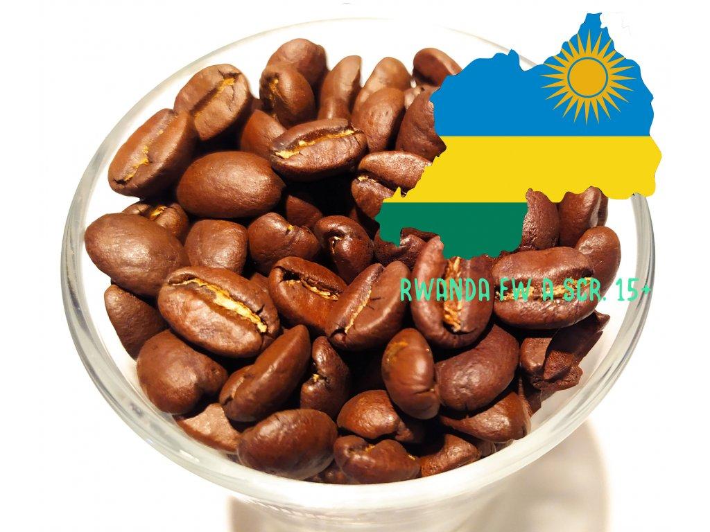 Zrnková káva Rwanda Fully Washed A Scr. 15+