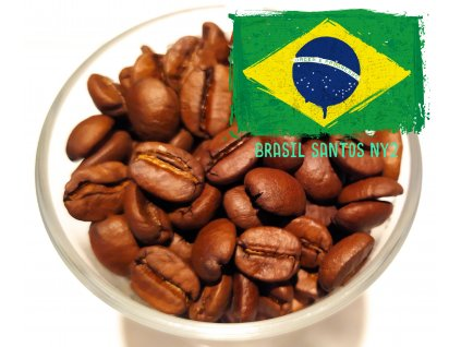 Zrnková káva Brasil Santos NY2