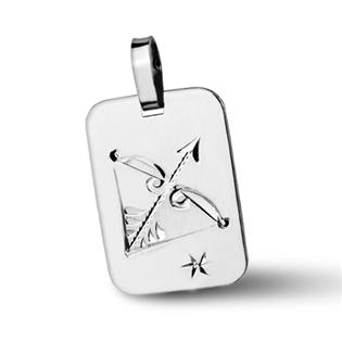 Stříbrný přívěsek - znamení Střelec