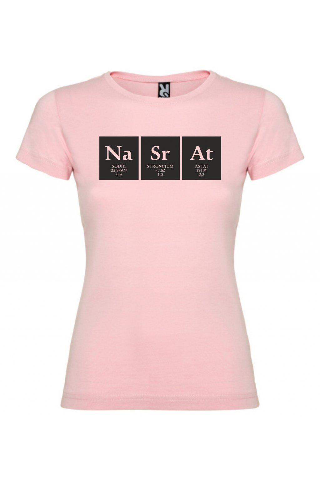 Chemik světle růžové tričko