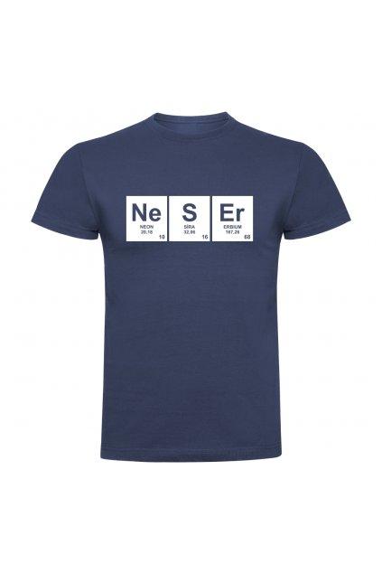 chemik neser denim modrá