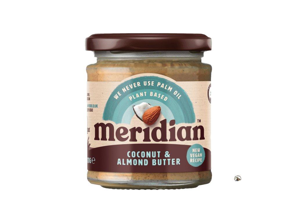 Meridian Mandlovo kokosový krém 170g front ROUNDEL 540x