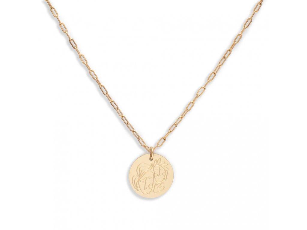 Ornamenti.cz Hey Harper, náhrdelník BFF gold