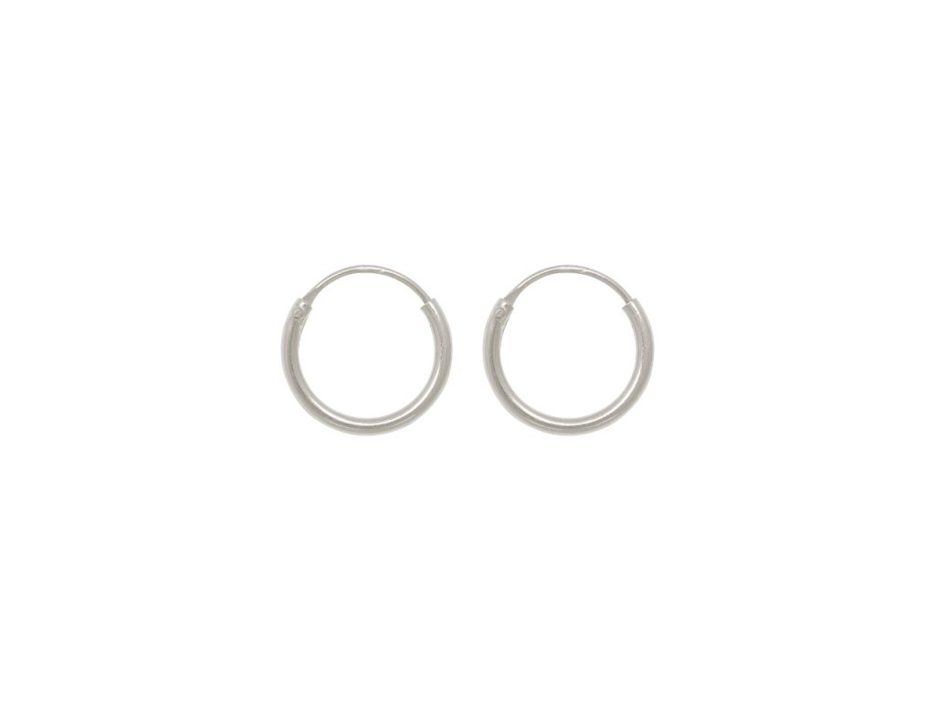 Kruhové stříbrné náušnice 9 mm