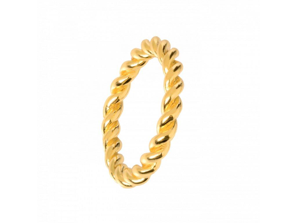 Pozlacený prstýnek Thunder gold
