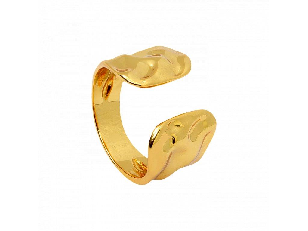 Pozlacený prstýnek Forze gold
