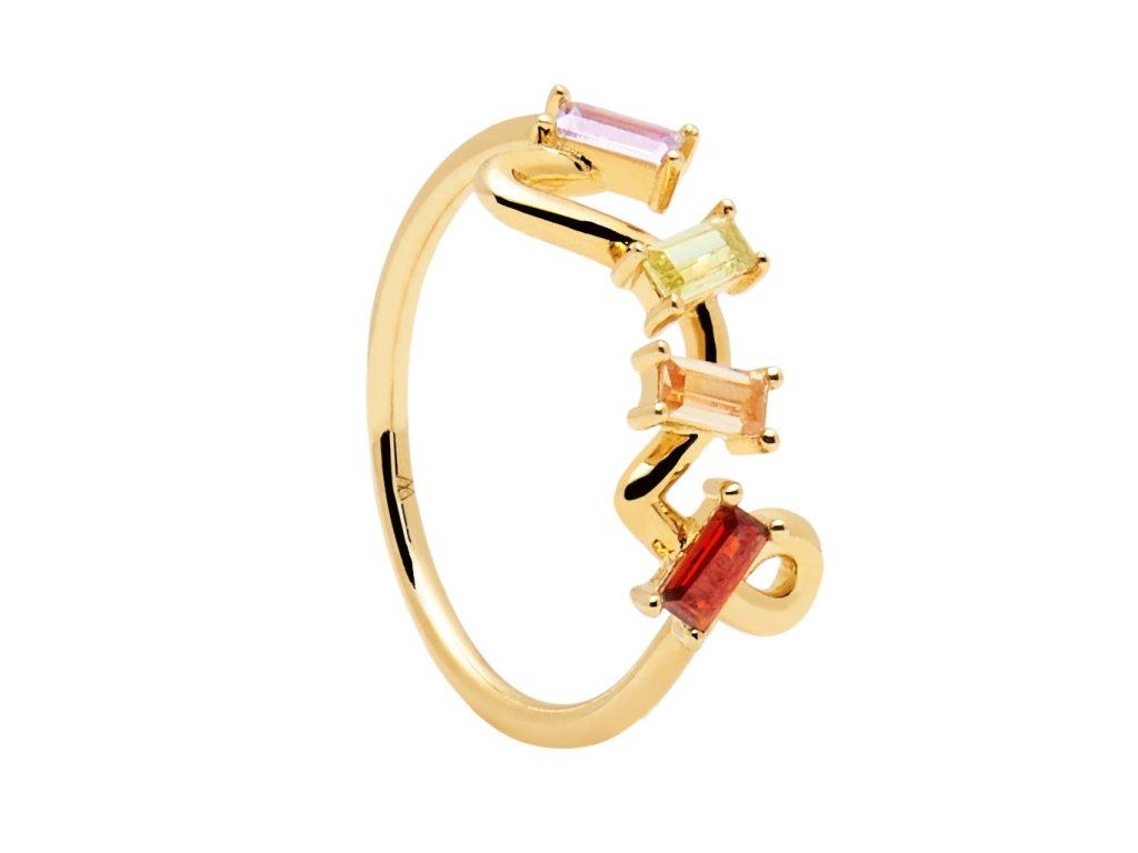 Pozlacený prstýnek Zaza gold