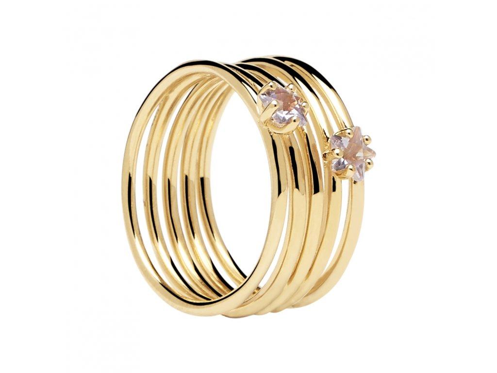 Pozlacený prstýnek Orion gold