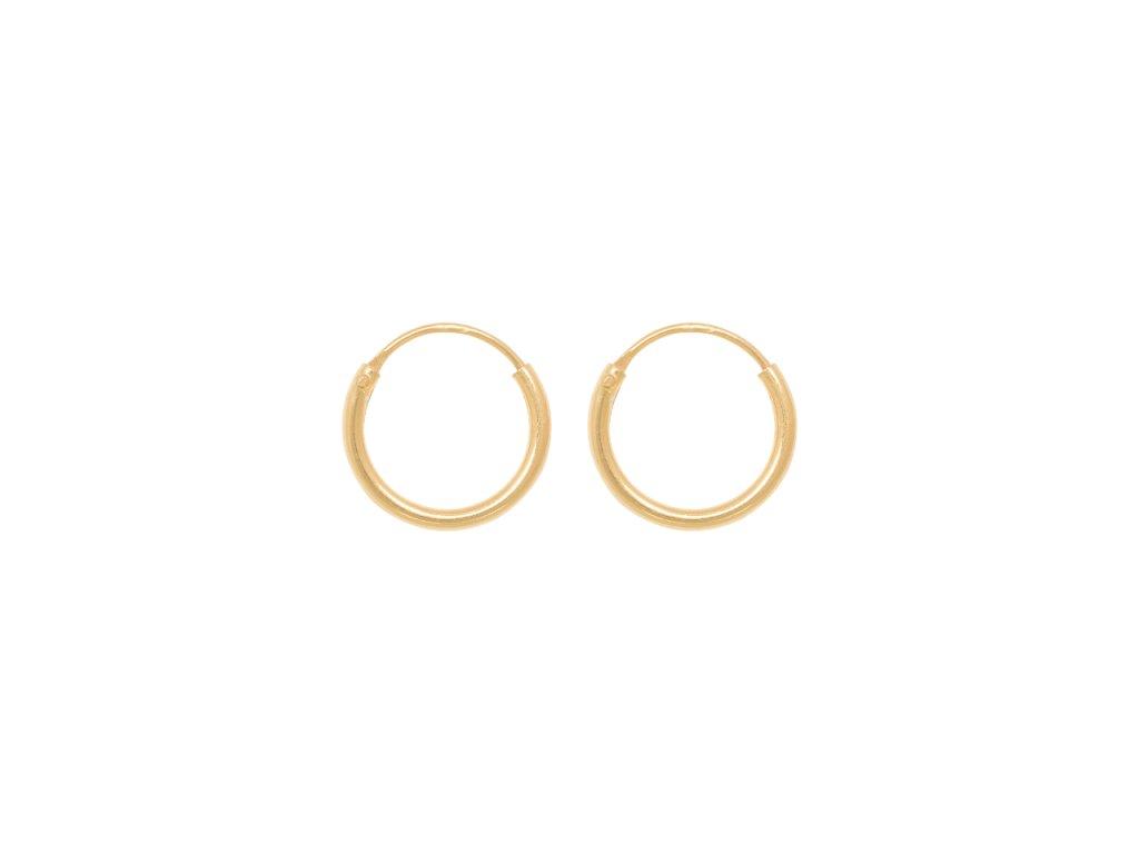 Tiny Hoops 10 mm pozlacené