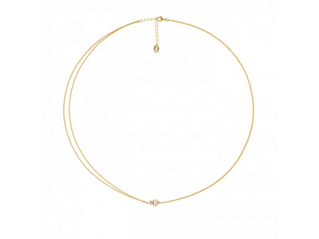 Ornamenti.cz Aleyolé, náhrdelník Ava gold