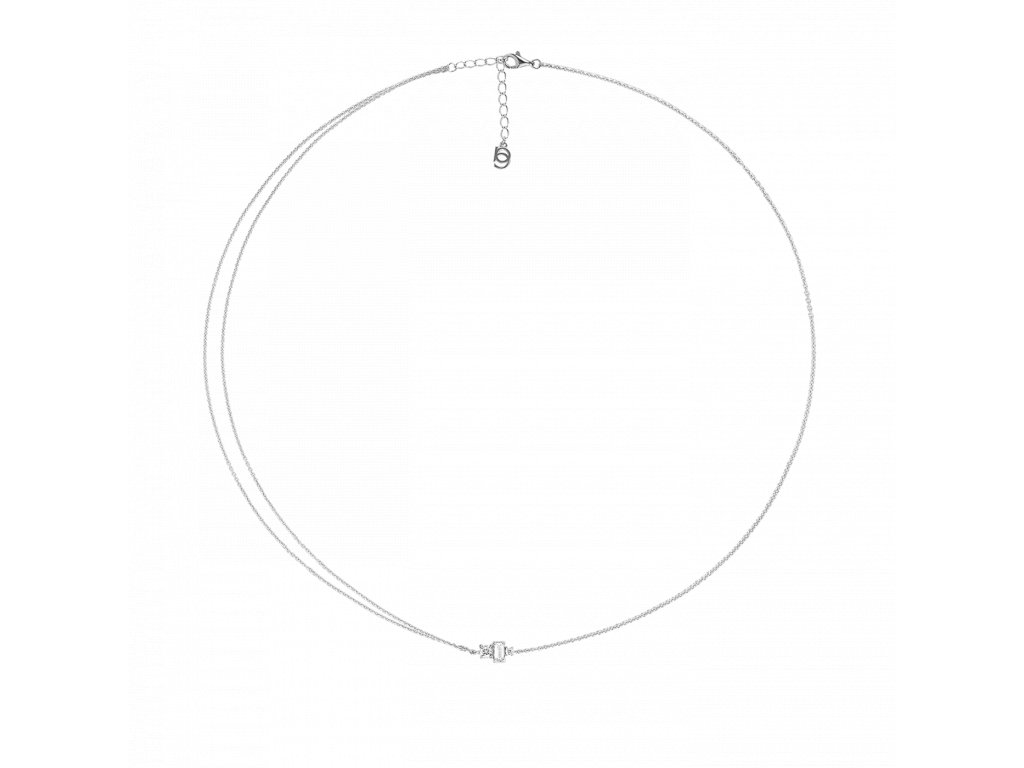 Ornamenti.cz Aleyolé, náhrdelník Ava silver