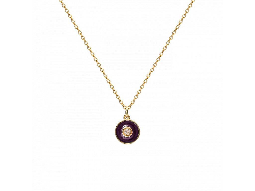 Ornamenti.cz Aleyolé, náhrdelník Aubergine Sauce gold