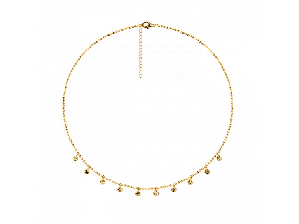 Ornamenti.cz Aleyolé, náhrdelník Juno gold I