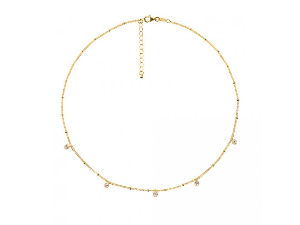 Ornamenti.cz Aleyolé, náhrdelník Element gold I