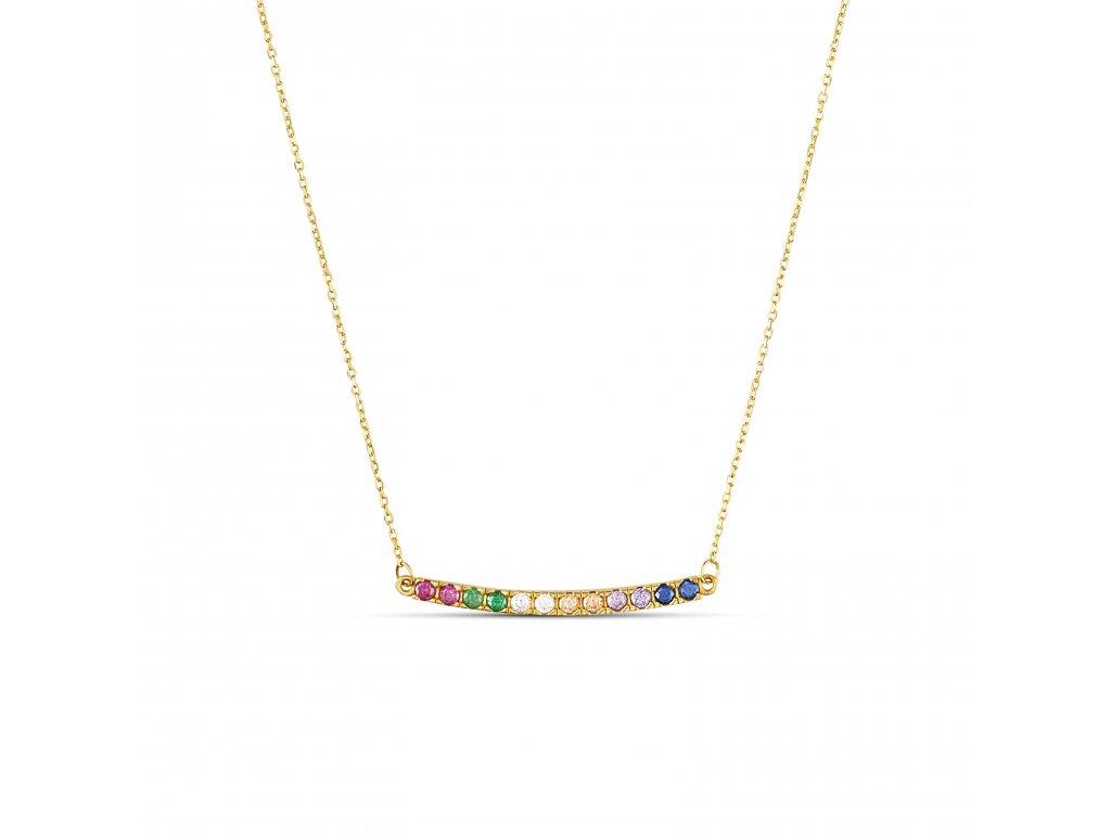 ornamenti optimized.cz mosuo, náhrdelník rainbow gold