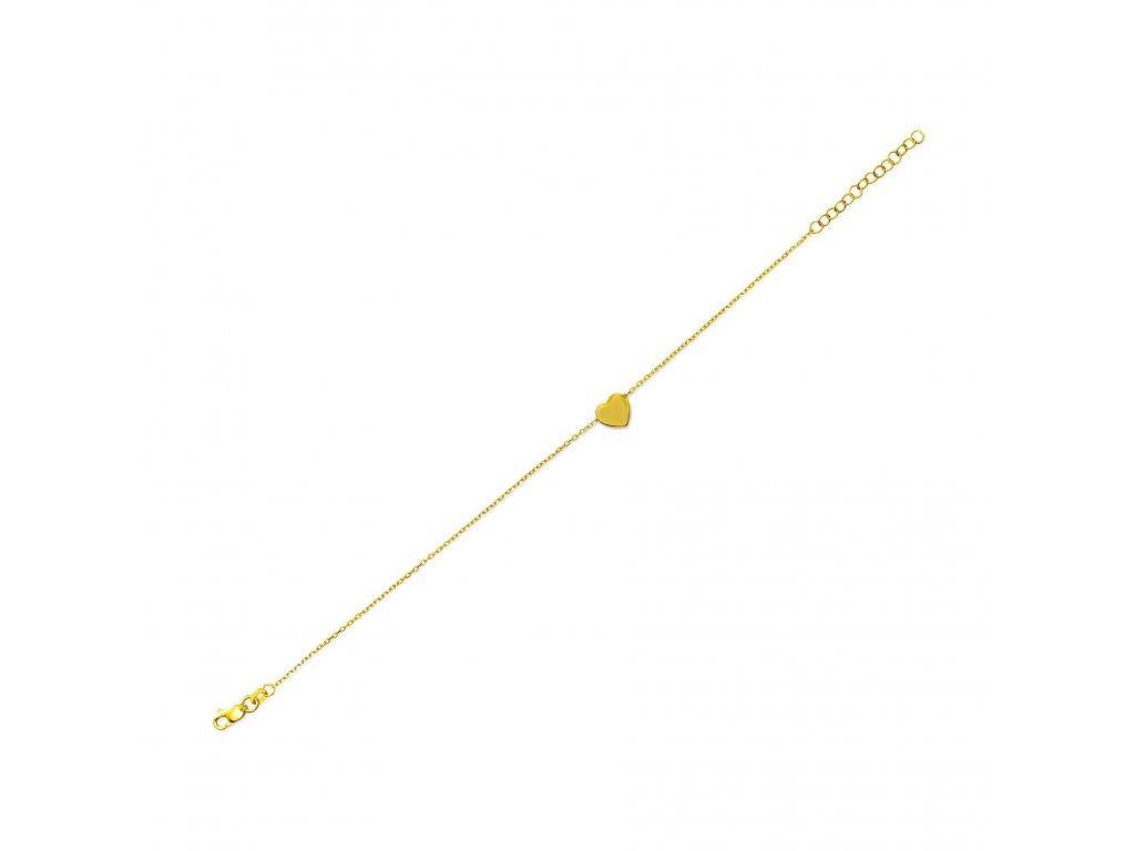 Heart Gold Bracelet 1799x1800